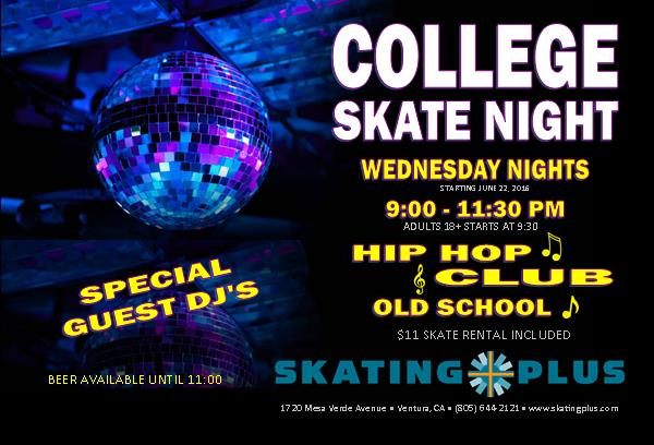 College Skate Night Postcard Web