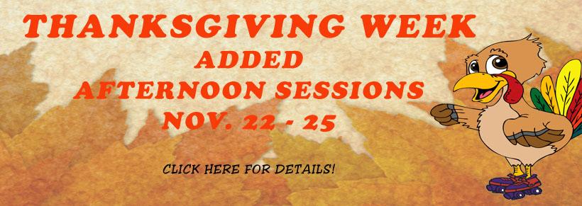 Open Thanksgiving Week